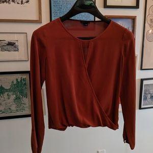 Burnt Orange Longsleve Wrap Shirt
